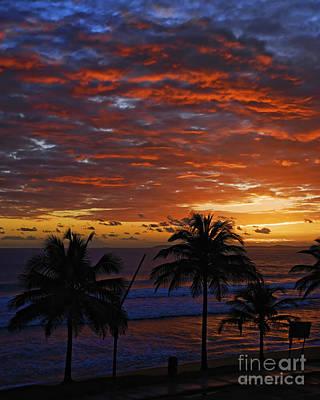 Sunrise El Malecon 1 - Luquillo - Puerto Rico Art Print by JH Photo Service