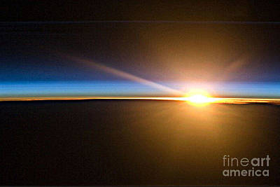 Photograph - Sunrise From The Space Station by Merton Allen