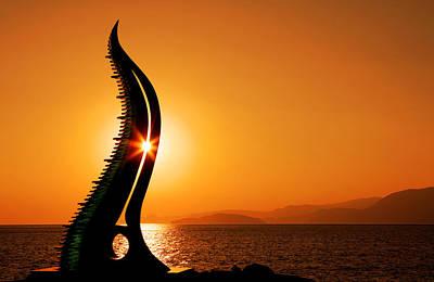Sunrise In Agios Nikolaos Art Print