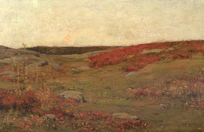 New Day Painting - Sunrise In Autumn by Childe Hassam