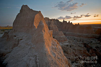 Sunrise In Badlands Art Print by Chris Brewington Photography LLC