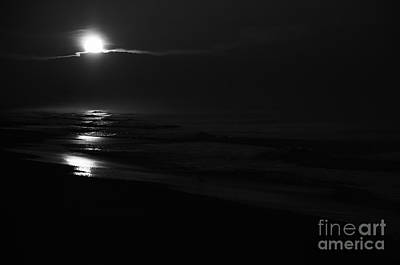 Photograph - Sunrise In Black And White by Wilma  Birdwell