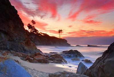 Sunrise In Laguna Beach Art Print