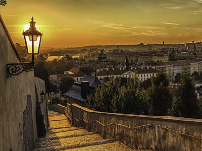 City Landscape Photograph - Sunrise In Prague by Valerii Tkachenko