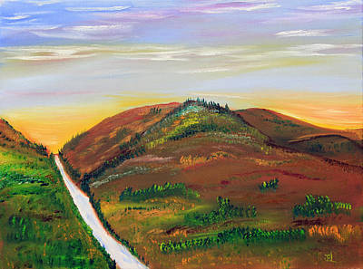 Prairie Painting - Sunrise In The Foothills by James Bryron Love