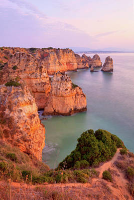 Lagos Photograph - Sunrise Lagos Portugal Coast by Monica and Michael Sweet