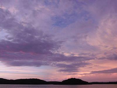 Sunrise Lake Colors Art Print