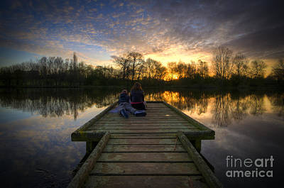 Photograph - Sunrise Lovers By The Lake by Yhun Suarez