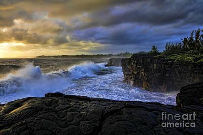 Photograph - Sunrise Near Hilo Hawaii by Gary Beeler
