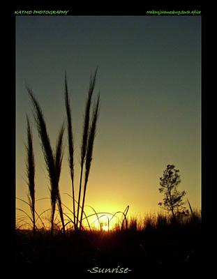 Photograph - Sunrise On A Winter Morning by Katlego Mokubyane