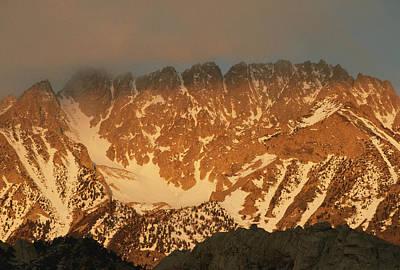 Bishops Peak Photograph - Sunrise On Basin Mountain, Above Owens by Gordon Wiltsie