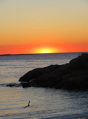 Sunrise On Cape Anne Print by Pamela Turner