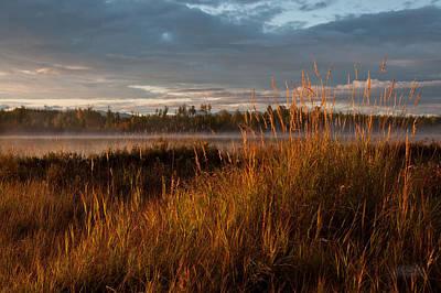 Sunrise On Hourglass Lake Art Print by Melissa Wyatt