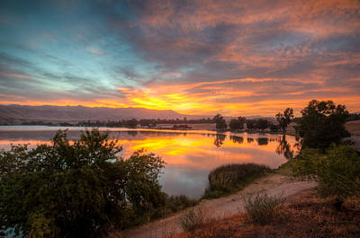 Photograph - Sunrise On Lake Ming by Connie Cooper-Edwards