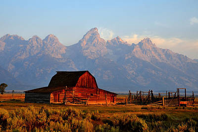 Photograph - Sunrise On Mormon Row And The Grand Tetons by Ken Smith