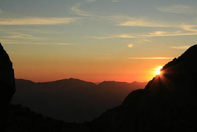 Sunrise On Mt.whitney Art Print