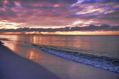 Sunrise On Navarre Beach Art Print