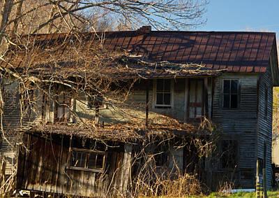 West Fork Photograph - Sunrise On Old Farm House by Douglas Barnett