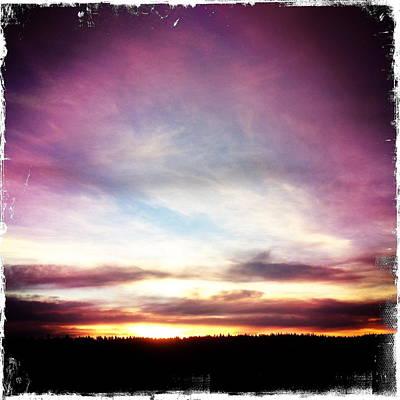 Sunrise On Ridge Art Print