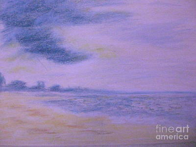 Pastel - Sunrise On St. George Beach  by Gretchen Allen