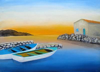 Sunrise On The Adriatic Art Print