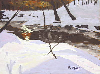 Painting - Sunrise On The Creek by Alan Mager