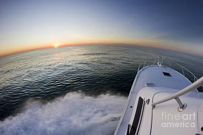 Sunrise On The Florida Coast Luhrs 36 Sportfisher Art Print