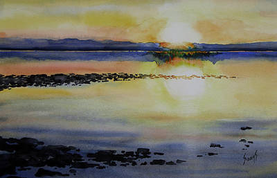 Painting - Sunrise On The Lake by Sam Sidders