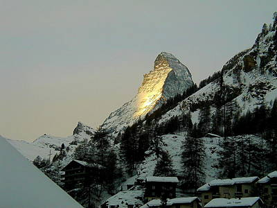 Photograph - Sunrise On The Matterhorn by Pat Moore