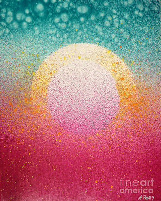 Painting - Sunrise On The Moon by Audrey Peaty