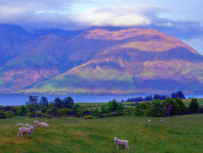 Photograph - Sunrise On The Pisa Range And Kawarau River by Harry Strharsky