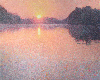 Sunrise On The River Original by Catherine Bath