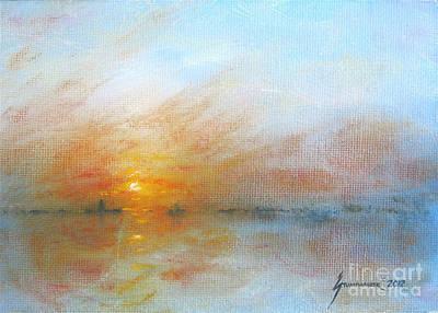 Mountain Landscape Rights Managed Images - River Sunrise Royalty-Free Image by Jerome Stumphauzer