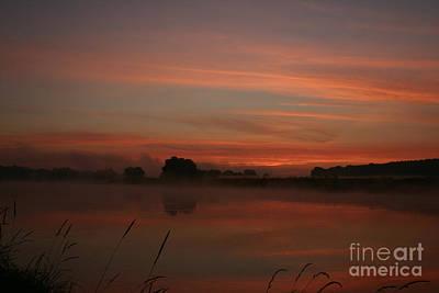 Sunrise On The River Print by Torsten Dietrich
