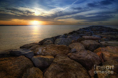 Photograph - Sunrise On The Rocks by Yhun Suarez