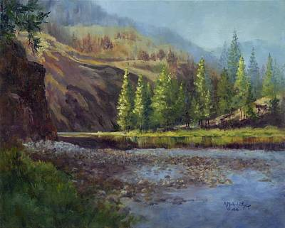Salmon Painting - Sunrise On The Salmon River by Michele Thorp