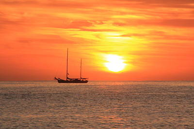 Boat Photograph - Sunrise On The Sea Of Cortez by Roupen  Baker