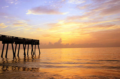Lkg Photograph - Sunrise On Vero Beach by Laura George