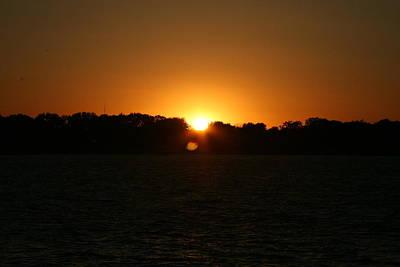 Sunrise On West Lake Okoboji Print by Amelia Painter