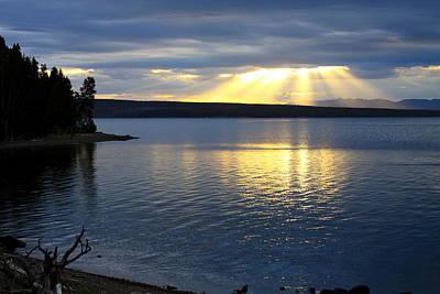 Photograph - Sunrise On Yellowstone Lake by Karon Melillo DeVega