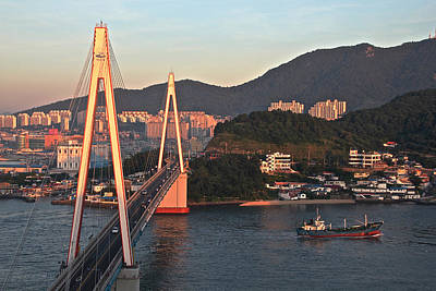 Y120831 Photograph - Sunrise On Yeosu, South Korea by Images from around the world