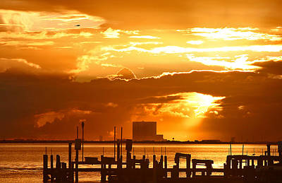Photograph - Sunrise Over Cape Canaveral by Van Corey