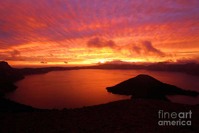 Photograph - Sunrise Over Crater Lake by Adam Jewell