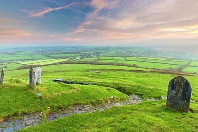 Dartmoor Photograph - Sunrise Over Dartmoor by Sebastian Wasek
