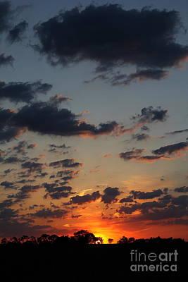 Art Print featuring the photograph Sunrise Over Field by Everett Houser
