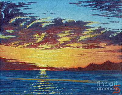 Sandru Painting - Sunrise Over Gonzaga Bay by Dumitru Sandru
