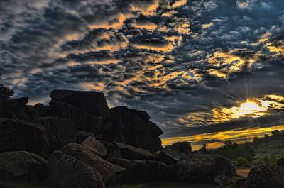 Sunrise Over Little Round Top Art Print by Dave Sandt
