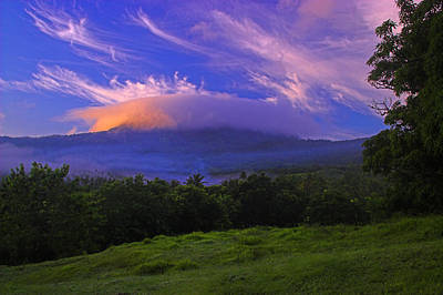 Photograph - Sunrise Over Marquis- St Lucia by Chester Williams