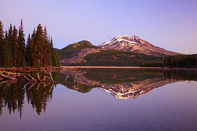 Sunrise Over Sparks Lake And South Art Print