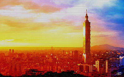 Digital Art - Sunrise Over Taipei by Steve Huang